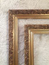 2 Large Vintage Wood Gold Gilt French Ornate Picture Frame's 87cm X 62cm