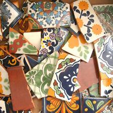 10 Pounds of Broken Talavera Mexican Ceramic Tile in Mixed Designs Tiles #001