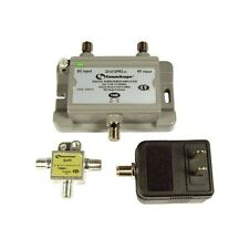Cable TV Antenna Signal Booster Amplifier 15dB Gain & Return Line Power Outdoor