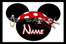 4x6 Disney Cruise Stateroom Door Magnet - PIRATE WITH EYE PATCH - PERSONALIZED
