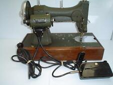 Vintage WHITE Rotary Electric Sewing Machine with  Foot Pedal & Case E 6354