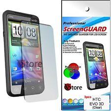 3 Pz Pellicola Per HTC EVO 3D Proteggi Salva Schermo Display LCD 3 D Pellicole