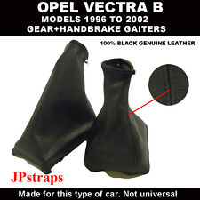 OPEL VECTRA B GEAR AND HANDBRAKE 100% GENUINE LEATHER MODELS 1996 TO 2002