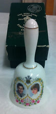 Crown Staffordshire Bone China Bell with Charles & Diana in Box