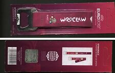 UEFA FOOTBALL EURO 2012 - bottle opener for beer LICENSED PRODUCT (5) WROCŁAW