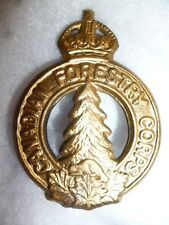 Canadian Forestry Corps WW2 Cap Badge, Mazeas S20