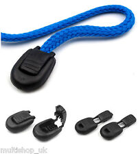 20 pcs of Black  Plastic CORD LOCK ENDS 15 x 19 mm Zipper Pull Zip Puller Ends