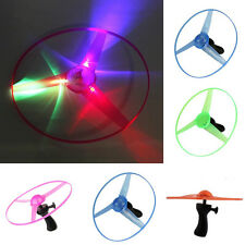 1× Frisbee LED Light Flying Saucer Boomerangs Helicopter UFO Spin Outdoor Toy