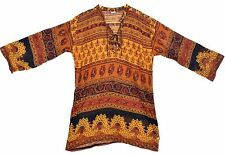 Indian boho cotton ethnic TOP HIPPIE dress TUNIC vintage look retro gypsy BLOUSE