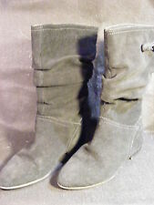 Women's Bass Melina Black Mid Calf Suede Slouch Style Fashion Boots Size 6.5M