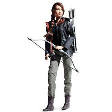 Hunger Games Katniss Everdeen Barbie Collector Doll Mockingjay Pin Bow and Arrow