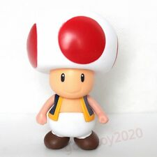 "Super Mario Brothers TOAD PVC 9cm/3.5"" Action Figure Toy No Box"