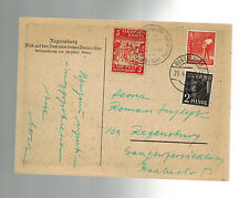 1948 Regensburg Germany Ukranian DP Displaced Persons Camp Cover Local Issue