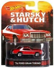 2015 HOTWHEELS RETRO ENTERTAINMENT STARSKY & HUTCH '76 FORD GRAND TORINO MINT
