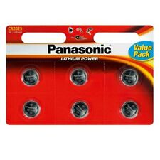 6 x Panasonic CR2025 Button Coin Cell Lithium Battery