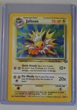 Jolteon Lighting Pokemon Holo Trading Card 4/64 Great Condition!  Never Played!