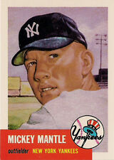 MICKEY MANTLE ; 1991 TOPPS ARCHIVES 1953 CARD No. 82