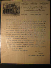 GAR 1923 STODDARD FUNERAL BROOKLYN NY GRANT'S BUGLER 809 BROADWAY PHOTO LETTER