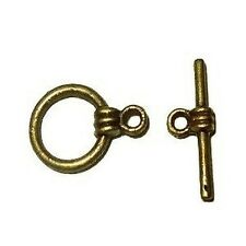 10 Sets Bronze Plated Alloy Toggles Clasps - A6524