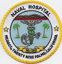 US NAVY PATCH - NAVAL HOSPITAL MCAGCC, TWENTY NINE PALMS, CALIFORNIA
