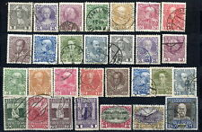 AUSTRIA 1908 definitive set with both papers, used.