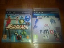 Lot de deux jeux PS3:  Fifa 13 edition ultimate OM et Sports Champions