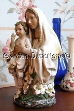 Stunning MARY & CHILD JESUS BUST STATUE White & Gold MADONNA ~ NEW!