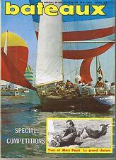bateaux * n° 209 Octobre 1976 L'Aber Wrac'h bateaux de Pêche Promenade le foc