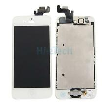 White LCD Touch Digitizer for iPhone 5 Glass Screen Assembly w/Button + Camera