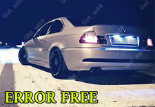 BMW 3 SERIES E46 E36 BRIGHT NUMBER PLATE NO ERROR WHITE LED UPGRADE BULBS
