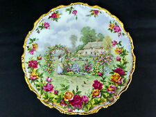A CELEBRATION OF THE OLD COUNTRY ROSES GARDEN PLATE, 1st QLTY, VGC, ROYAL ALBERT