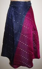New Silk Sari Wrap Skirt 10 12 14 16 - Hippy Boho Ethnic Fairly Traded