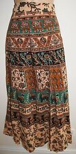 New Cotton Wrap Skirt 10 12 14 16 Hippy Ethnic India Ankle Length Hippie