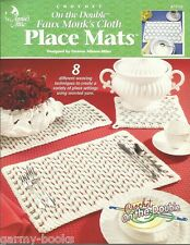 Faux Monk's Cloth Place Mats Crochet on the Double Patterns Annie's Attic NEW