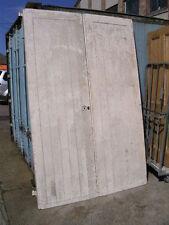 """Large Pine ledged braced framed industrial garage room divider doors 63x96""""2 1/2"""