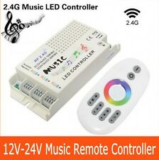 Wireless RF 2.4G DC 12V-24V Music Remote Controller For RGB Led Strip light
