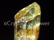 ONE GOLDEN / YELLOW APATITE CRYSTAL! SCARCE! BRINGS MONEY! RAINBOW! GARNET! LRG