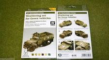Vallejo AFV Weathering System for GREEN VEHICLES Acrylic Paint set 78406