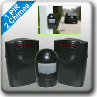 A9B2 WIRELESS DRIVEWAY ALERT Weatherproof PIR Motion Sensor Garage Alarm Chime