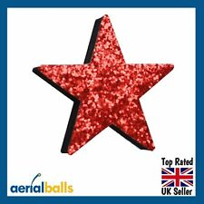 Red Stardust Glitter STAR Car Aerial Ball Antenna Topper