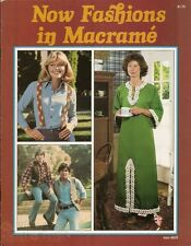 Now Fashions in Macrame Vintage Instruction Pattern Book 1978 NEW Bikini Purse