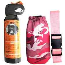 UDAP Pepper Power Bear Spray Repellant w/ Pink Camouflage Holster And Belt