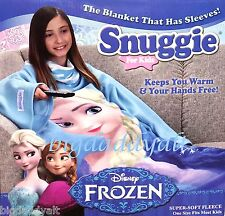 New Disney Frozen Elsa Snuggie For Kids Child Blanket Throw One Size Fits Most