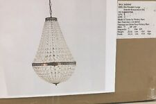 NIB Pottery Barn MIA FACETED-CRYSTAL PENDANT CHANDELIER ~ LARGE SIZE, $499