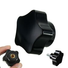 32mm × M6 Thread Black Plastic Screw On Star Head Clamping Knob Grip