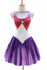 Sk-05 taille s-m sailor moon saturne violet robe dress cosplay manga japon anime