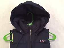 Hollister Junior's Women's Full Zip Hooded Feather Down Puffer Vest Size XS