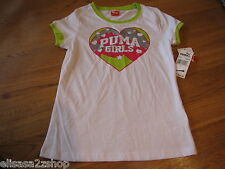 Puma girls active t shirt PGF27155 White M  medium youth NWT *^