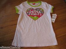 Puma girls active t shirt PGF27155 White M  medium youth NWT *^