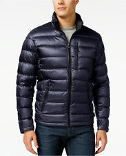 Calvin Klein Men's Packable Lightweight Down Jacket, Color: Dark Indigo, Size L